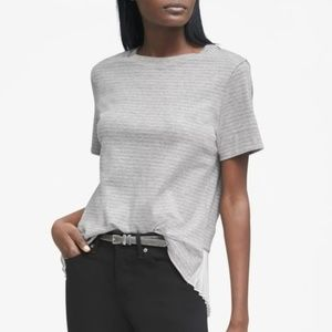 Banana Republic Pleated Mixed Top Striped